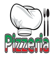 Pizzeria sign vector image vector image