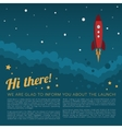 Project Launch Rocket in Space Background vector image