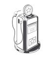 Gasoline station pump vector image