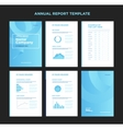 Modern annual report template with cover design vector image