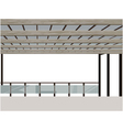 construction terrace with a roof vector image