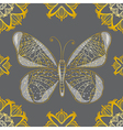 Seamless background with butterfly vector image vector image