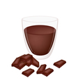 A Cup of Hot Cocoa with Chocolate vector image