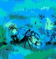 Crab in in the ocean vector image