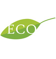 Eco icon vector image