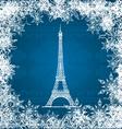 eiffel tower snowflakes vector image