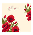 greeting card with bouquet of poppies vector image