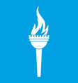 torch icon white vector image