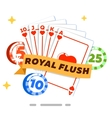 Poker isolated concept in flat style vector image