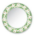Plate with daisies vector image