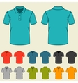 Set of templates colored polo shirts for men vector image