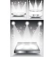 3d Empty white podium with light vector image