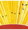 retro sunrays background vector image vector image