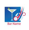 cocktail bar logo vector image