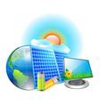 solar energy vector image vector image