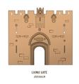 Lion Gate in Jerusalem vector image