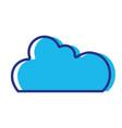 color cloud data network server connection vector image