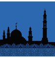 mosques silhouette vector image