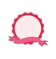 pink badge love ribbon icon vector image