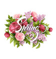 stylish poster with beautiful flowers and spring vector image