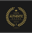 authentic brand label vector image