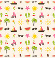 pattern with summer elements vector image vector image
