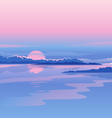 River Sunset Landscape vector image