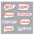 promotion labels vector image vector image