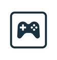 joystick icon Rounded squares button vector image