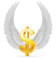 Flying dollar vector image vector image