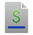 Invoice Gradient Icon vector image