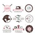 Handmade workshop logo vintage vector image