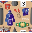 Boxing set pattern vector image