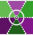 Color segments backdrop vector image