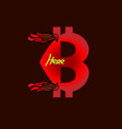 flat icon bitcoin a digital currency modern flat vector image