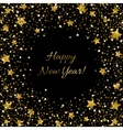 Happy New Year Card Ssparkle sequin tinsel bling vector image