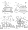 House line icon landscapes vector image