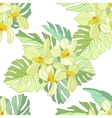 Seamless pattern of exotic flowers vector image