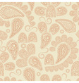 seamless pattern with highly detailed paisley vector image
