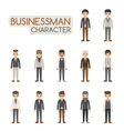 Set of businessman costume characters eps10 vect vector image