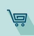 shopping cart icon vector image