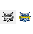 Ice hockey logo winter team sport tournament vector image