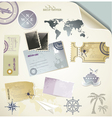 Journey - paper objects for your travel vector image vector image