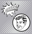 man comic pop art design vector image