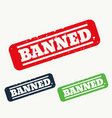 banner stamp sign in three colors vector image