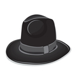 Gangster black hat on the white background vector image vector image