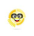 sun shine with sunglasses vector image