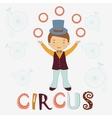 Circus card vector image