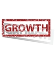 GROWTH outlined stamp vector image
