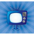blue retro tv set vector image vector image
